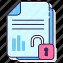 data, free, information, open, unlocked icon