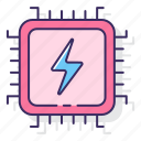 cpu, power, processing, processor, system icon