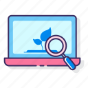 internet, laptop, online, research, search icon