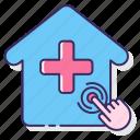 care, health, medical, remote, smart icon