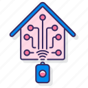 home, house, smart, wireless icon