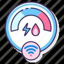 meter, power, smart, water, wireless icon