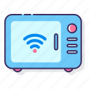 connect, cooking, microwave, smart, wireless icon