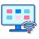 android, apps, smart, tv, wireless icon