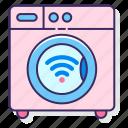 machine, smart, washing, wireless icon