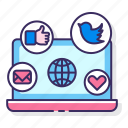 heart, likes, media, messages, social, tweets, web icon