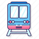 electric, express, rail, railway, train, transport icon