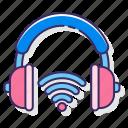 computer, gaming, headphones, headset, wireless icon