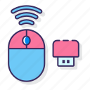 computer, mouse, wireless, wireless mouse icon