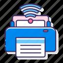 laser, printer, printing, wireless icon