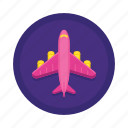 aeroplane, aircraft, airplane, airport, flight, plane icon