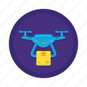 aircraft shipping, delivery, drone, drone delivery, drone shipping icon