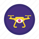 copter, drone, monitoring, quadcopter, spy, surveillance, uav icon