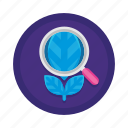 eco, ecology, environmental monitoring, nature, plant, plant research icon
