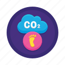 air pollution, carbon dioxide, greenhouse gas, household carbon footprint icon