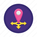 gps, location, location marker, location pin, mobility, pinpoint icon