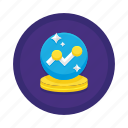 forecast, forecasting, predict, predicting, prediction, trending, trends icon