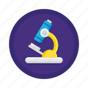 analysis, examine, experiment, microscope, research, science, test icon