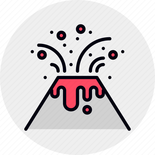 disaster, eruption, lava, natural, prevention, volcanic, volcano icon
