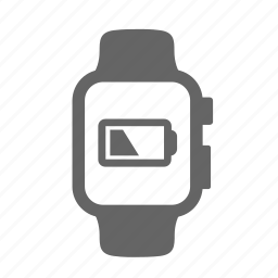battery, charging, clock, portable, rechargeable, smartwatch, storage icon