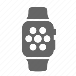 application, clock, device, display, modern, option, smartwatch icon