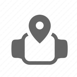 destination, device, monitor, pin, smartwatch, support, tracking icon