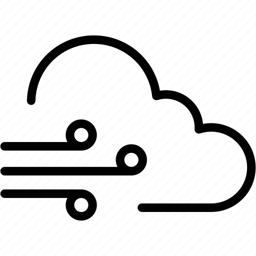 cloudy, weather, wind icon