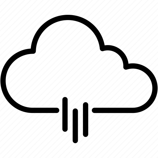 cloud, raining, weather icon