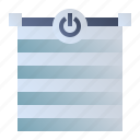 blinds, roller blinds, shutter, window shades icon