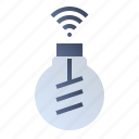bulb, lamp, light, wireless icon