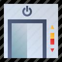 door, elevator, lift, smarthome icon