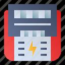 digital meter, electricity meter, energy meter, power meter icon