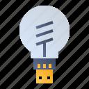 internet of things, lamp, light, smart bulb icon