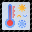 checker, temperature, thermometer, weather icon