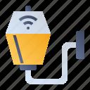 illuminated light, smarthome, street light, wall lamp icon