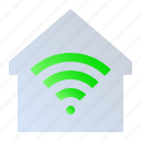 internet home, smart home, smart house, wifi home icon