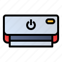 ac, air conditioning, air-conditioner, electronics icon