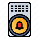 alarm bell, alert, hand bell, ring icon