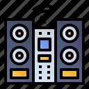 audio system, cd player, dvd player, sound speaker icon