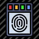 fingerprint, scanner, sensor, technology icon