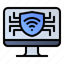 computer, monitor, pc, protection, security icon