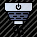 fire safety, fire-extinguisher, smoke detector, smoke sensor icon