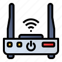 internet device, network router, wifi modem, wifi router icon