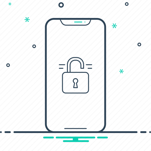 Insecure, phone, unlocked, unlocked phone, unsecured icon - Download on Iconfinder