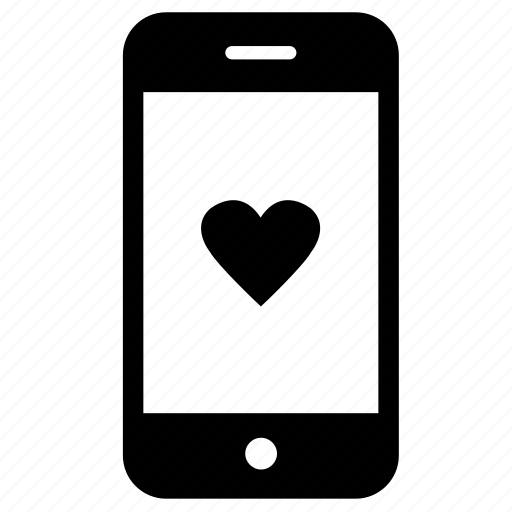favourite, feedback, heart, love, smartphone, social media icon