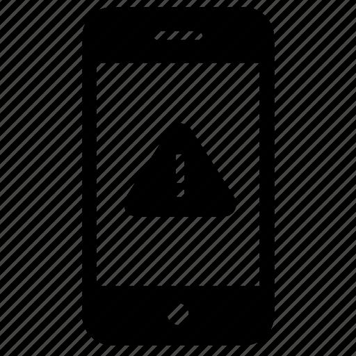 alert, error, message, notification, smartphone, warning icon