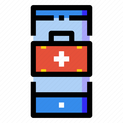 aid, application, hospital, medical, mobile, phone, smartphone icon