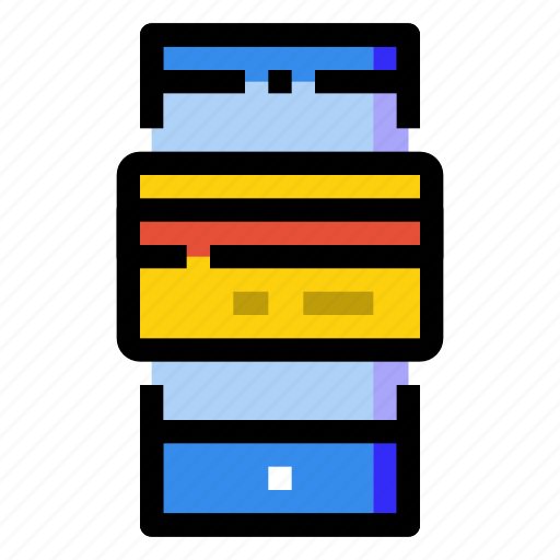 card, credit, debit, mobile, payment, phone, smartphone icon