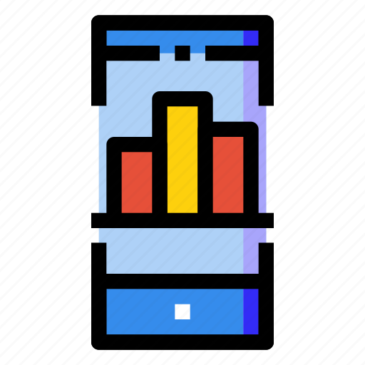 bar, chart, investment, mobile, smartphone, statistics, stock icon