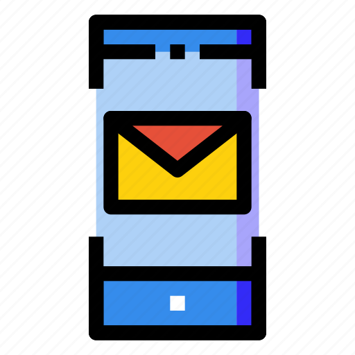 letter, mail, message, mobile, phone, screen, smartphone icon